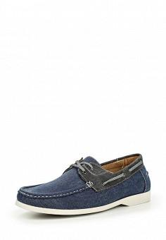Топсайдеры, Elong, цвет: синий. Артикул: EL025AMIOW55. Мужская обувь / Мокасины и топсайдеры