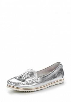 Мокасины, El Tempo, цвет: серебряный. Артикул: EL072AWQHE96. Женская обувь / Мокасины и топсайдеры