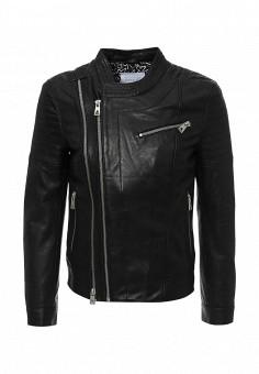 Куртка кожаная, Eleven Paris, цвет: черный. Артикул: EL327EMHQG47. Мужская одежда / Верхняя одежда / Кожаные куртки