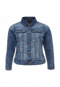 Куртка джинсовая, Evans, цвет: голубой. Артикул: EV006EWTCL56. Женская одежда / Тренды сезона / Летний деним / Джинсовые куртки