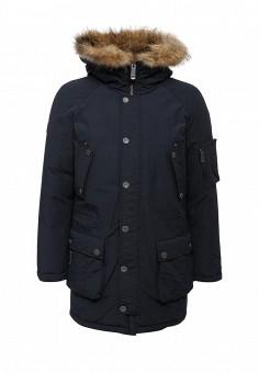 Пуховик, Finn Flare, цвет: синий. Артикул: FI001EMUZY47. Мужская одежда / Верхняя одежда / Пуховики и зимние куртки