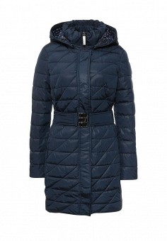 Куртка утепленная, FiNN FLARE, цвет: синий. Артикул: FI001EWKHE54. Женская одежда / Верхняя одежда
