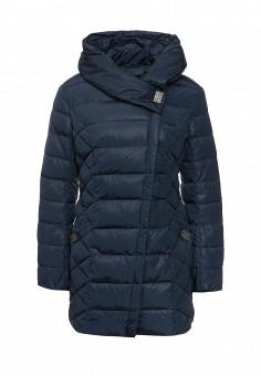 Куртка утепленная, FiNN FLARE, цвет: синий. Артикул: FI001EWKHE55. Женская одежда / Верхняя одежда