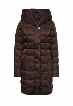 Пуховик, FiNN FLARE, цвет: коричневый. Артикул: FI001EWKHE83. Женская одежда / Верхняя одежда