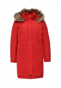 Пуховик, FiNN FLARE, цвет: красный. Артикул: FI001EWKHE98. Женская одежда / Верхняя одежда