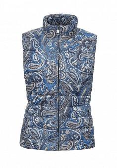 Жилет утепленный, FiNN FLARE, цвет: синий. Артикул: FI001EWKHF38. Женская одежда / Верхняя одежда