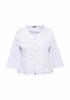 Куртка джинсовая, Fiorella Rubino, цвет: белый. Артикул: FI013EWSTO64. Женская одежда / Верхняя одежда / Джинсовые куртки