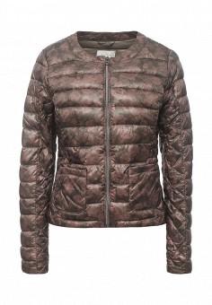 Куртка утепленная, Gas, цвет: коричневый. Артикул: GA340EWRLP04. Женская одежда / Верхняя одежда / Демисезонные куртки