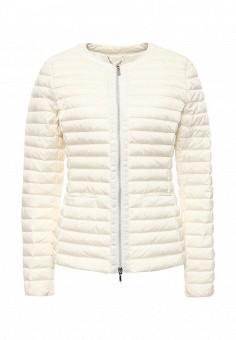 Пуховик, Geox, цвет: белый. Артикул: GE347EWPCY91. Женская одежда / Верхняя одежда / Пуховики и зимние куртки