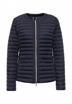 Пуховик, Geox, цвет: синий. Артикул: GE347EWPCY92. Женская одежда / Верхняя одежда / Пуховики и зимние куртки
