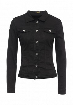 Куртка джинсовая, G&G, цвет: черный. Артикул: GG001EWRCI76. Женская одежда / Тренды сезона / Летний деним / Джинсовые куртки