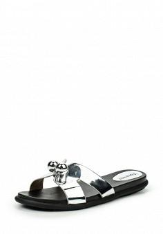 Шлепанцы, GLAMforever, цвет: серебряный. Артикул: GL854AWRLT82. Женская обувь / Шлепанцы и акваобувь