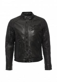 Куртка кожаная, Mango Man, цвет: черный. Артикул: HE002EMMXY44. Мужская одежда / Верхняя одежда / Кожаные куртки
