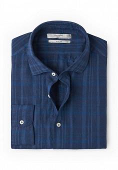 Рубашка, Mango Man, цвет: синий. Артикул: HE002EMROD24. Мужская одежда / Рубашки