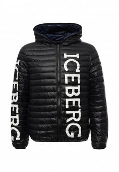 Пуховик, Iceberg, цвет: синий, черный. Артикул: IC461EMIL215. Мужская одежда / Верхняя одежда / Пуховики и зимние куртки