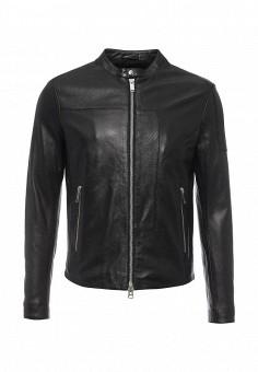 Куртка кожаная, Iceberg, цвет: черный. Артикул: IC461EMOYU70. Мужская одежда / Верхняя одежда / Кожаные куртки