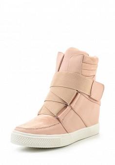 Кеды на танкетке, Ideal, цвет: розовый. Артикул: ID005AWSBE54. Женская обувь / Кроссовки и кеды / Кеды