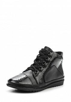 Ботинки, Instreet, цвет: черный. Артикул: IN011AWPRC49. Женская обувь / Ботинки