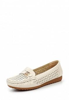Мокасины, Instreet, цвет: бежевый. Артикул: IN011AWQQG01. Женская обувь / Мокасины и топсайдеры