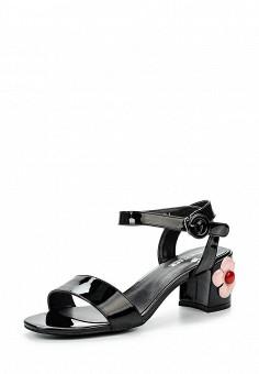 Босоножки, Item Black, цвет: черный. Артикул: IT004AWQIC32. Женская обувь / Босоножки