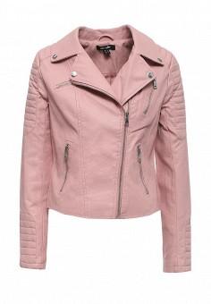 Куртка кожаная, Jennyfer, цвет: розовый. Артикул: JE008EWRHI24. Женская одежда / Верхняя одежда / Косухи