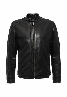 Куртка кожаная, Joop!, цвет: черный. Артикул: JO006EMJRC91. Мужская одежда / Верхняя одежда / Кожаные куртки
