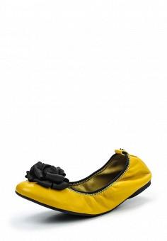 Балетки, Jog Dog, цвет: желтый. Артикул: JO019AWQFF44. Премиум / Обувь / Балетки