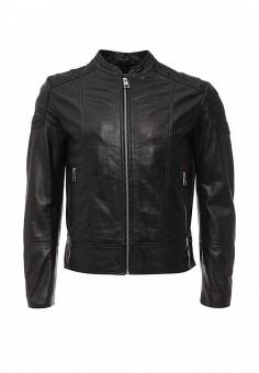 Куртка кожаная, Just Cavalli, цвет: черный. Артикул: JU662EMJDC58. Мужская одежда / Верхняя одежда / Кожаные куртки