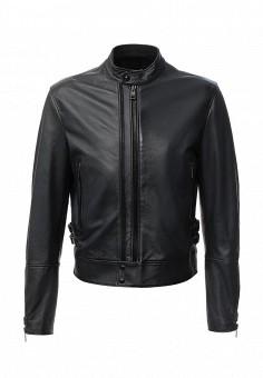 Куртка кожаная, Just Cavalli, цвет: синий. Артикул: JU662EMJDD11. Мужская одежда / Верхняя одежда / Кожаные куртки