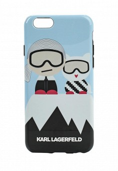 Чехол для iPhone, Karl Lagerfeld, цвет: мультиколор. Артикул: KA025BWONC26. Премиум