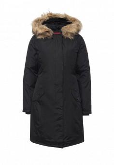Куртка утепленная, Kamora, цвет: черный. Артикул: KA032EWNBD29. Женская одежда / Верхняя одежда / Пуховики и зимние куртки