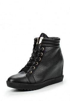 Кеды на танкетке, Keddo, цвет: черный. Артикул: KE037AWKDX08. Женская обувь
