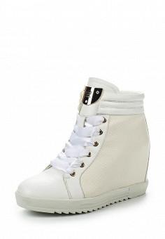 Кеды на танкетке, Keddo, цвет: белый. Артикул: KE037AWKDX09. Женская обувь