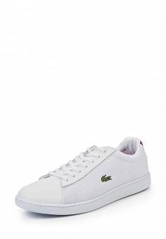 Кеды, Lacoste, цвет: белый. Артикул: LA038AWPZN92. Женская обувь / Кроссовки и кеды