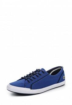 Кеды, Lacoste, цвет: синий. Артикул: LA038AWPZO16. Женская обувь / Кроссовки и кеды