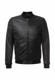 Куртка кожаная, Lab. Pal Zileri, цвет: черный. Артикул: LA059EMLCU08. Мужская одежда / Верхняя одежда / Кожаные куртки