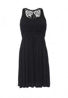 Платье пляжное, Lascana, цвет: черный. Артикул: LA061EWRSP45. Женская одежда / Платья и сарафаны / Летние платья