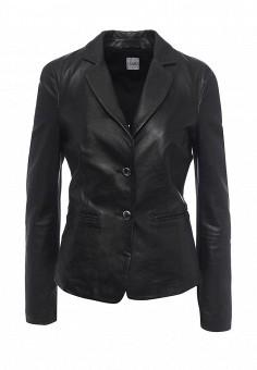 Куртка кожаная, Liu Jo Jeans, цвет: черный. Артикул: LI003EWOQF09. Женская одежда / Верхняя одежда / Кожаные куртки
