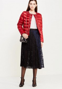 Пуховик, Liu Jo Jeans, цвет: красный. Артикул: LI003EWUDU43. Женская одежда / Верхняя одежда / Пуховики и зимние куртки