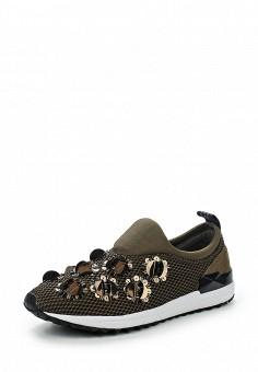 Кроссовки, Liu Jo, цвет: хаки. Артикул: LI687AWJKV47. Премиум / Обувь / Кроссовки и кеды / Кроссовки