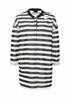 Пальто, Liu Jo, цвет: черно-белый. Артикул: LI687EWOTD15. Премиум / Одежда / Верхняя одежда / Пальто