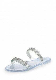 Шлепанцы, LOST INK, цвет: серебряный. Артикул: LO019AWOVU29. Женская обувь / Шлепанцы и акваобувь