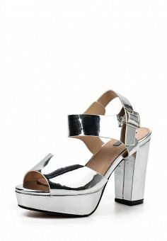 Босоножки, LOST INK, цвет: серебряный. Артикул: LO019AWOVU56. Женская обувь / Босоножки