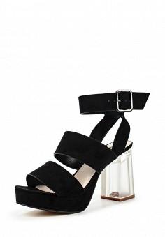 Босоножки, LOST INK, цвет: черный. Артикул: LO019AWPXX28. Женская обувь / Босоножки