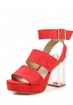 Босоножки, LOST INK, цвет: коралловый. Артикул: LO019AWPXX30. Женская обувь / Босоножки