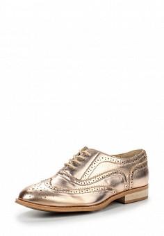 Ботинки, LOST INK, цвет: золотой. Артикул: LO019AWQDW26. Женская обувь / Ботинки / Низкие ботинки
