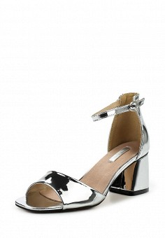 Босоножки, LOST INK, цвет: серебряный. Артикул: LO019AWROK33. Женская обувь / Босоножки