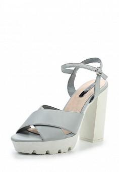 Босоножки, LOST INK, цвет: серый. Артикул: LO019AWTND52. Женская обувь / Босоножки