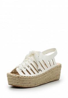 Босоножки, LOST INK, цвет: белый. Артикул: LO019AWULT27. Женская обувь / Босоножки