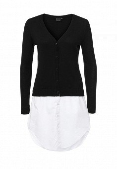 Кардиган, LOST INK, цвет: черно-белый. Артикул: LO019EWNMH41. Женская одежда